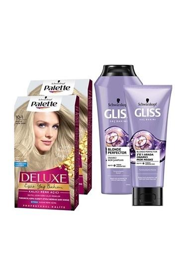 Gliss Gliss Blonde Perfector Şampuan 250 Ml + Palette 2X 101 Küllü Açık Sı Saç Boyası Renksiz